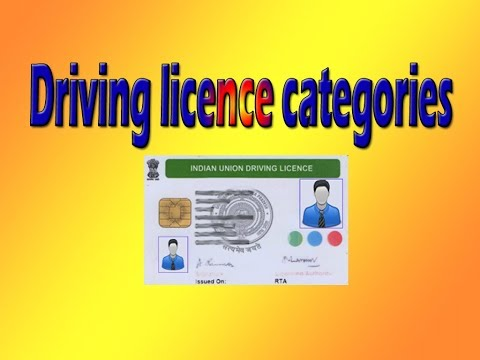 Vehicle Categories Related to Driving License | driving licence categories in india