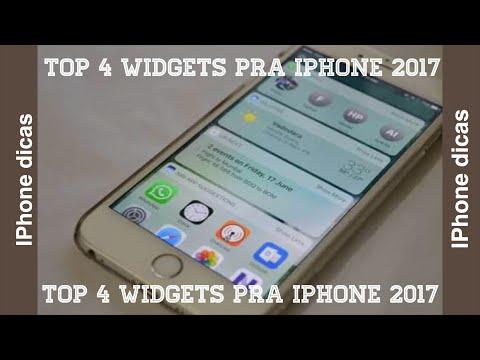 Top 4 widgets pra iPhone 2017
