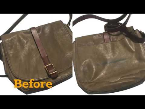 ReLeather   Leather Restoration   Fossil Purse   Water Stain Removal and Leather Refinishing