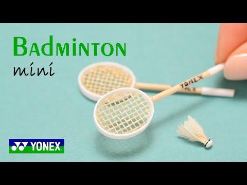 Miniature Badminton Yonex | No Polymer Clay