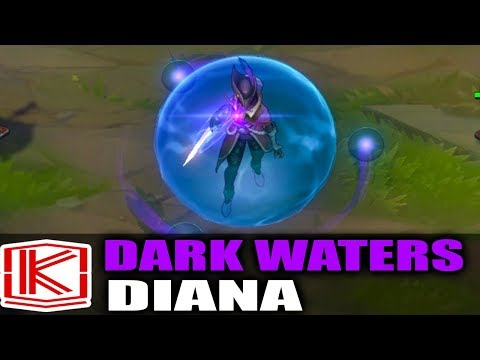DARK WATERS DIANA SKIN SPOTLIGHT GAMEPLAY - League of Legends