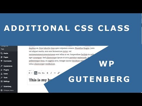 Additional CSS Class Gutenberg WordPress Example - Heading Color