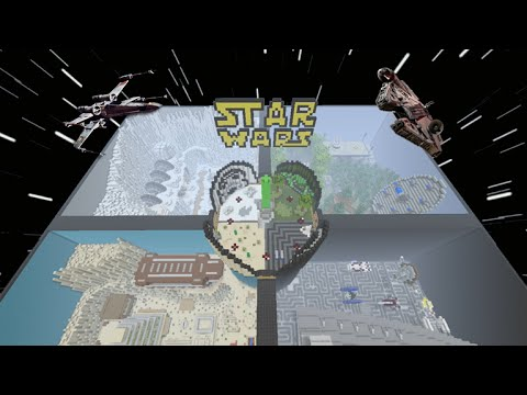 Minecraft Xbox360 + XboxOne Star Wars Hunger Games - 4 Sided Map SHOWCASE! Download