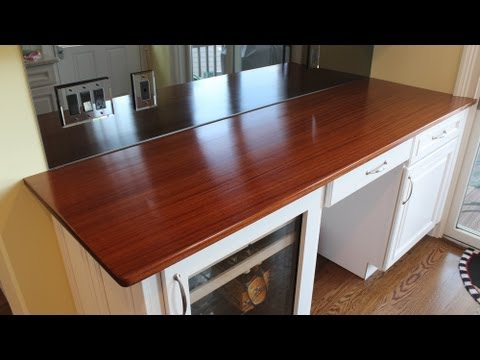 How to Build a Wooden Countertop - Installed by Jon Peters