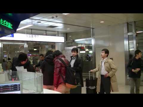 Tokyo Narita Airport, Sky Liner Train to Tokyo City Area, Ticket Counter