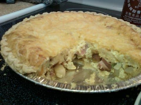 Ham,Potato,Onion,Green Pepper,Egg & Cheese Pie