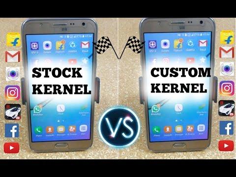 Stock Kernel Vs Custom Kernel (Optimax) Of Samsung Galaxy J7 - Speed Test