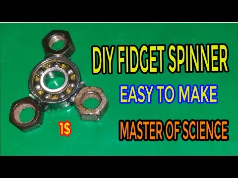 How to make fidget spinner at home