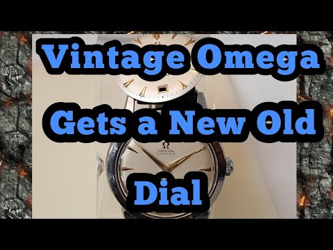How to Change a Dial On a Vintage Omega Watch, Omega Seamaster from the 50s gets a new old Dial
