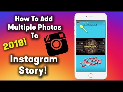 How To Add Multiple Photos In Instagram Story [2018] How To Add More Than One Story On Instagram