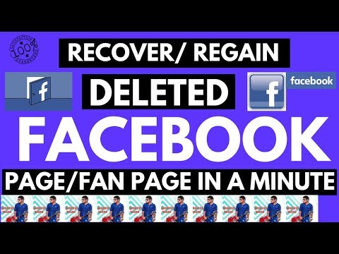 How to recover/restore deleted facebook page/ profile 2018 | cancel your Page deletion
