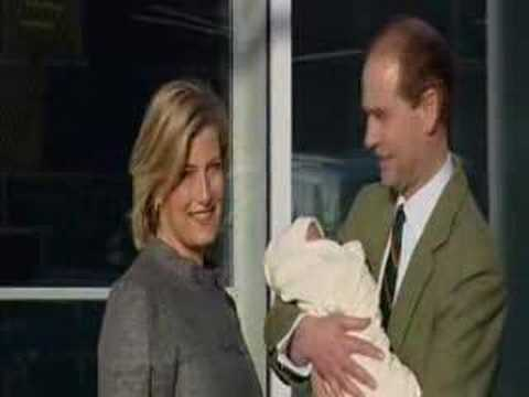 The Earl and Countess of Wessex with their new baby boy