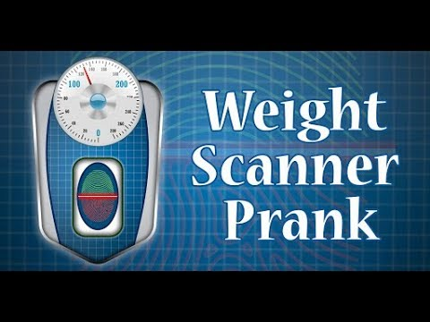 Weight Machine Scanner Prank - How to check weight on mobile devices