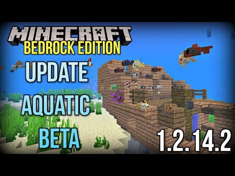Minecraft Update Aquatic Bedrock Beta - NEW Fish, Shipwrecks & MORE! (Xbox/Windows 10/PE)
