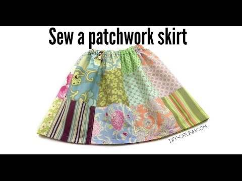 How to sew a patchwork skirt