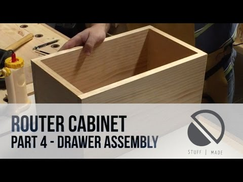 Router Table build - Part 4 - Drawer Assembly - Router Cabinet