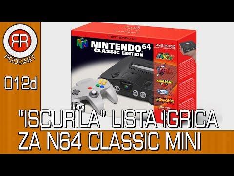 Iscurila Lista Igrica za Ninitendo 64 Classic Mini