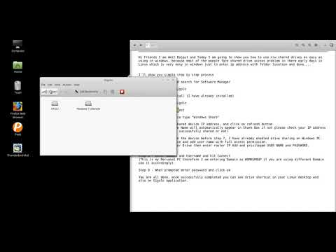 Accessing Windows \ Network shared drive from Linux Mint using GUI Mode no commands