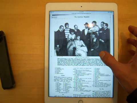 Google Books PDF Test iPad Air 2 American Magazine iOS Edition