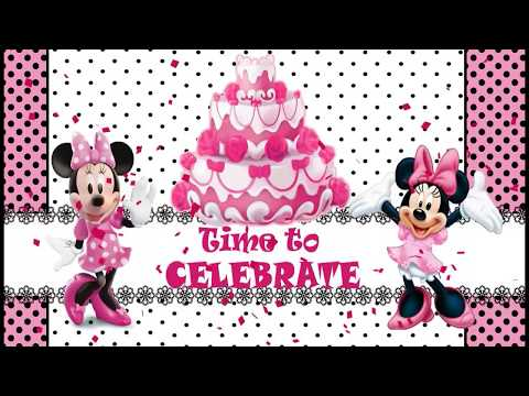 Minnie Mouse Theme Baby First Birthday Invitation
