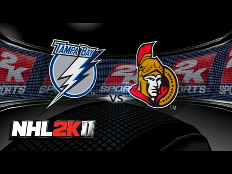NHL 2K11 - Ottawa vs. Tampa Bay (Full Game)