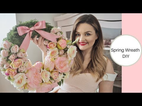 How to make a Faux flower wreath, Spring DIY, Happy Easter!