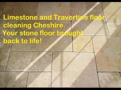 Limestone and Travertine stone floor cleaning Cheshire