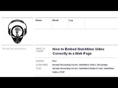 How-To Embed A Quicktime Movie In A Web Page
