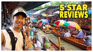 Download Eating At The BEST Reviewed Street Food Markets In Thailand (5 STAR) Video
