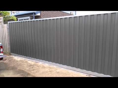 6.5 Meter x 2.1 Meter Colorbond sliding gate