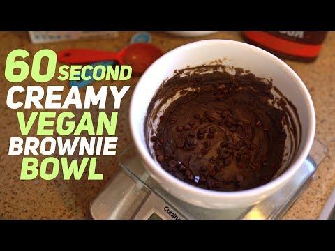 60 Second Creamy High Protein Vegan Brownie Bowl