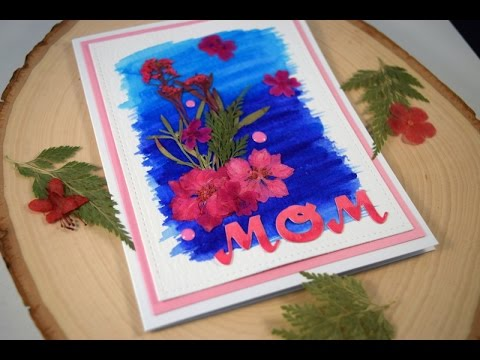 Mother's Day Card featuring Pressed Flowers sponsored by Greetings of Grace