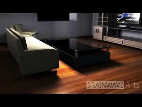 Living Room Made Using Maya