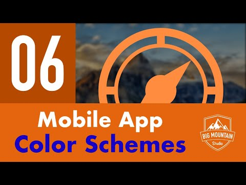 Finding Color Schemes for Mobile Apps - Part 6 - Itinerary App