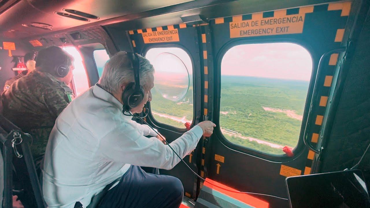 Sobrevuelo de supervisión del Tren Maya