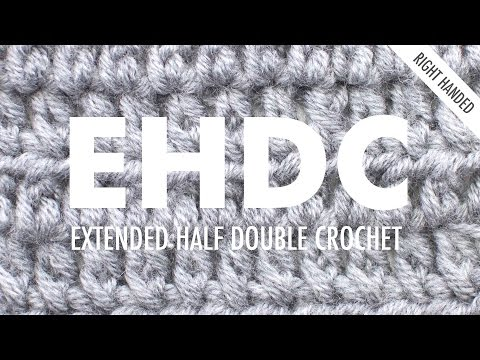 The Extended Half Double Crochet :: Crochet Abbreviation :: Right Handed
