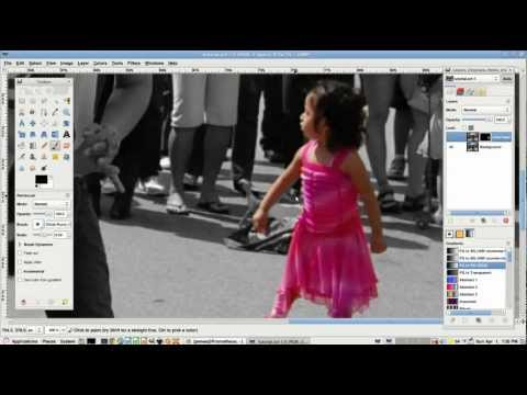 How to Make a Background Black and White in GIMP