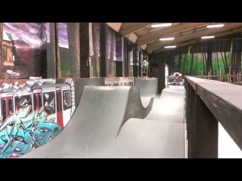 Rush Indoor Skatepark Pumptrack and a Dirt Scooter