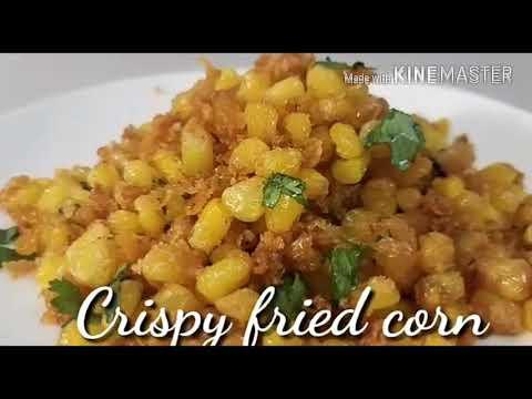 Crispy fried corn / chatpatta fried corn / indian snacks recipe / indian recipe
