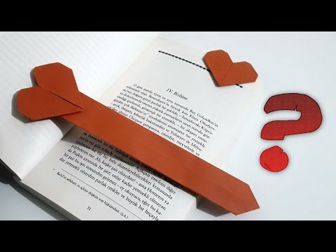 How to make Paper Heart Bookmark ?