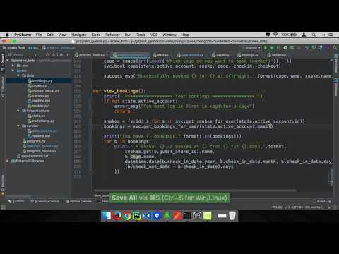 MongoDB and Python Quickstart (14/21): Demo: View your bookings as guest