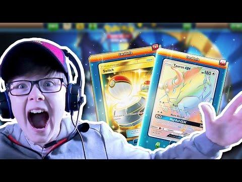 My FIRST Pokémon-GX!! Opening Sun & Moon Booster Packs | Pokémon TCG Online
