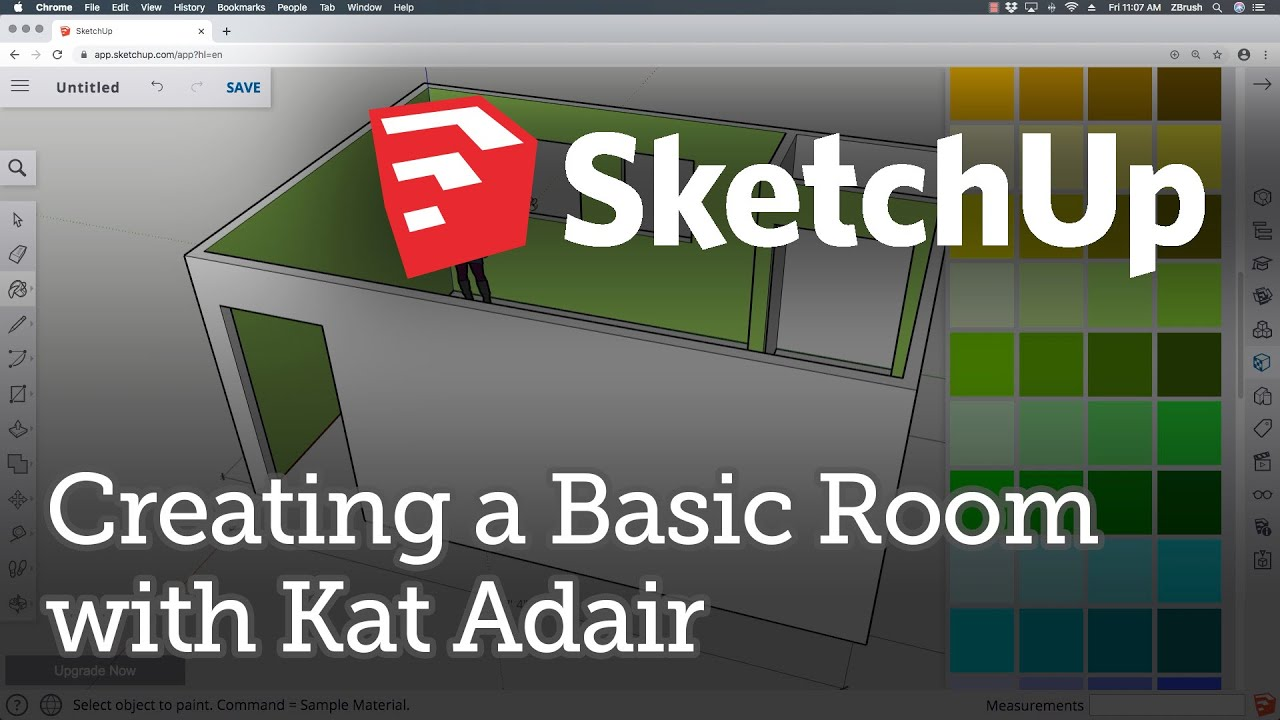 SketchUp Tutorials with Kat Adair: Creating a Basic Room (for Beginners)