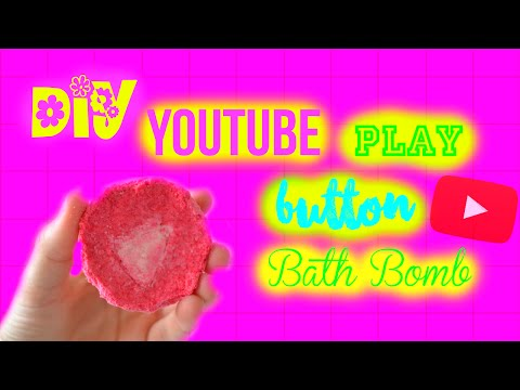FLASH: DIY Bath Bomb | Youtube Play Button | WITHOUT citric acid, cornstarch and cream of tartar