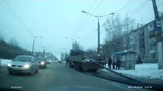 Truck Dumps Pipe Load || ViralHog