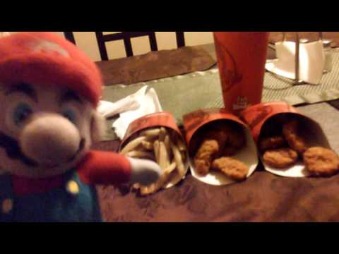 Mario taste test ep1:Wendy's chicken nuggets and fries