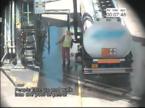 CCTV of diesel fuel spill incident