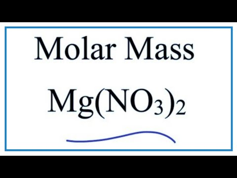 Molar Mass / Molecular Weight of Mg(NO3)2   ---  Magnesium Nitrate