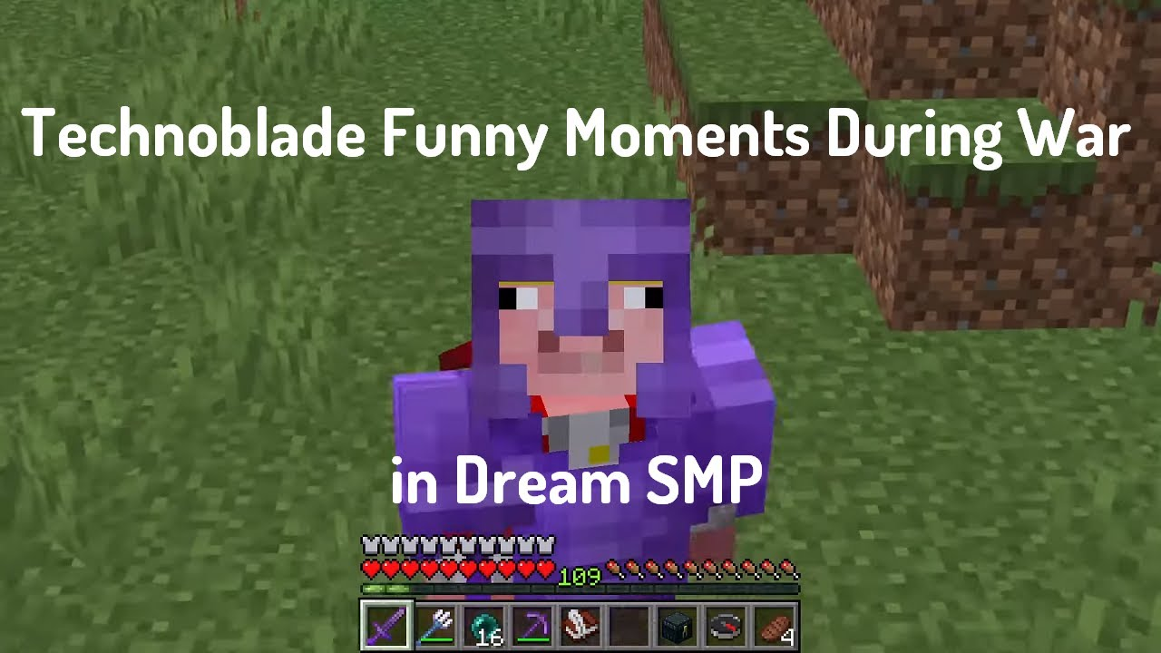 Technoblade Funny Moments During War in Dream SMP.