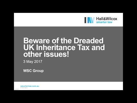 Do you own UK properties and live in Australia? - Beware of the dreaded inheritance tax!